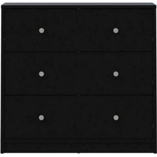 Maria Kommode 3 Schubladen schwarz Sideboard Highboard Schrank Flur Diele - Bild 1