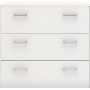 Spell Kommode 3 Schubladen weiss Sideboard Highboard Schrank Flur Diele - Bild 1