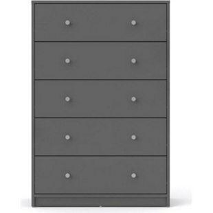 Maria Kommode 5 Schubladen grau Sideboard Highboard Schrank Flur Diele - Bild 1