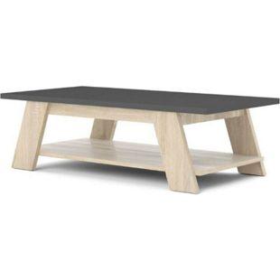 Couchtisch CONNIE Beistelltisch Wohnzimmer Tisch Nachttisch Konsole Eiche grau - Bild 1