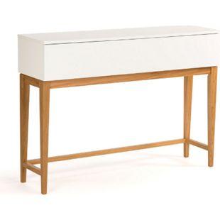 Konsolentisch Blance Eiche weiß teilmassiv Schminktisch Beistelltisch Tisch - Bild 1