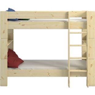 Molly Kids Kiefer Kinderbett 90x200 Kinderzimmer Holz Bett Einzelbett braun - Bild 1