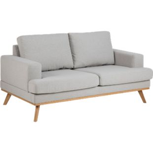 Sofa Nord 2 Sitzer Couch Garnitur Sofagarnitur Polstersofa Couchgarnitur grau - Bild 1