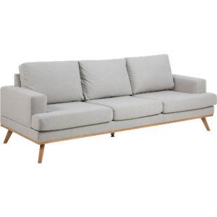 Sofa Nord 3 Sitzer Couch Garnitur Sofagarnitur Polstersofa Couchgarnitur grau - Bild 1