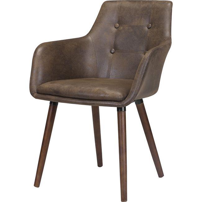 2x Esszimmerstuhl Johs Essstuhl Kühenstuhl Küche Stuhl Set Stühle Kansas braun
