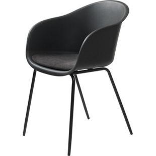 2x Design Esszimmerstuhl schwarz Küchenstuhl Stuhl Set Stühle Metall Kunststoff - Bild 1