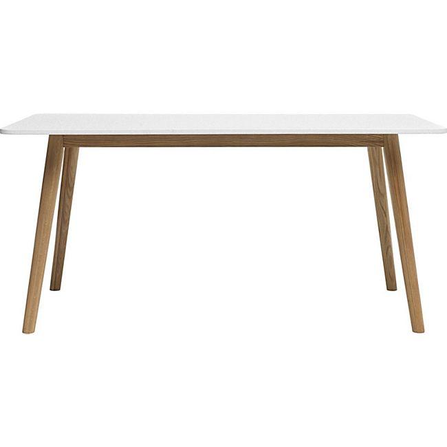 Esszimmertisch Tula 90x160 weiss Eiche massiv Holz Esstisch Küchentisch Tisch - Bild 1