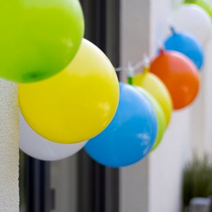 LED Lichterkette Luftballons Innen Außen Deko Garten Outdoor Biergarten Licht - Bild 1