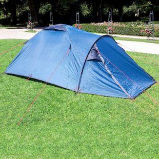 Wanderlust Zelt 3 Personen Kuppelzelt Camping Outdoor Festival Familienzelt Blau - Bild 1