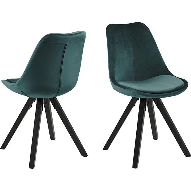 2x Esszimmerstuhl Dry Stuhl Set Stühle Polsterstuhl Küchenstuhl grün schwarz - Bild 1