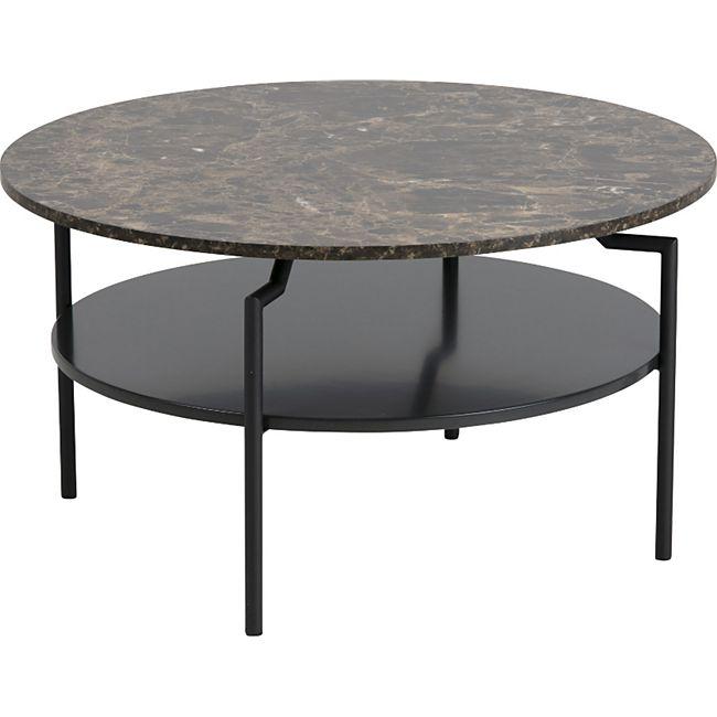 Couchtisch Goheen schwarz braun Marmorprint Sofa Wohnzimmer Tisch Beistelltisch - Bild 1