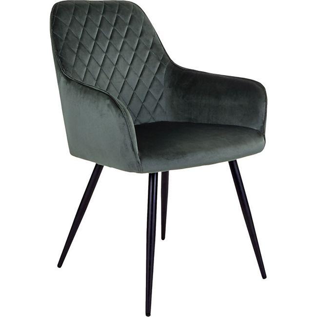 2x Esszimmerstuhl Hasse Essstuhl Küchen Stuhl Set Stühle grün schwarz - Bild 1