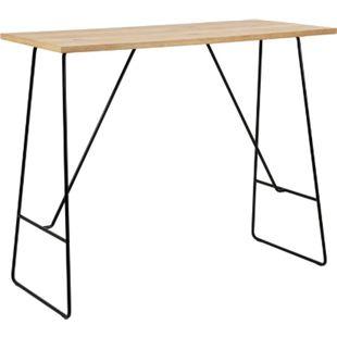 Bartisch Liva Eiche Furnier Metall schwarz Tisch Bar Tresen Hochtisch gelsugt - Bild 1