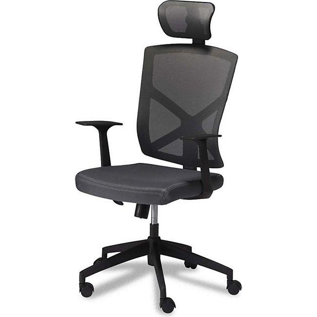 Bürostuhl Nori grau Schreibtischstuhl Drehstuhl Sessel Chefsessel Büro Stuhl - Bild 1