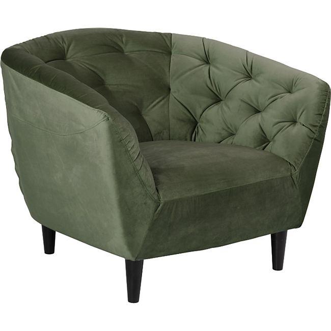 Sessel Rita tannengrün schwarz Polstersessel Wohnzimmer Clubsessel Lounge - Bild 1