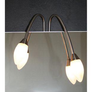 Halogenleuchte Spiegelleuchte Halogen Lampe Glas Leuchte Badezimmer Beleuchtung - Bild 1