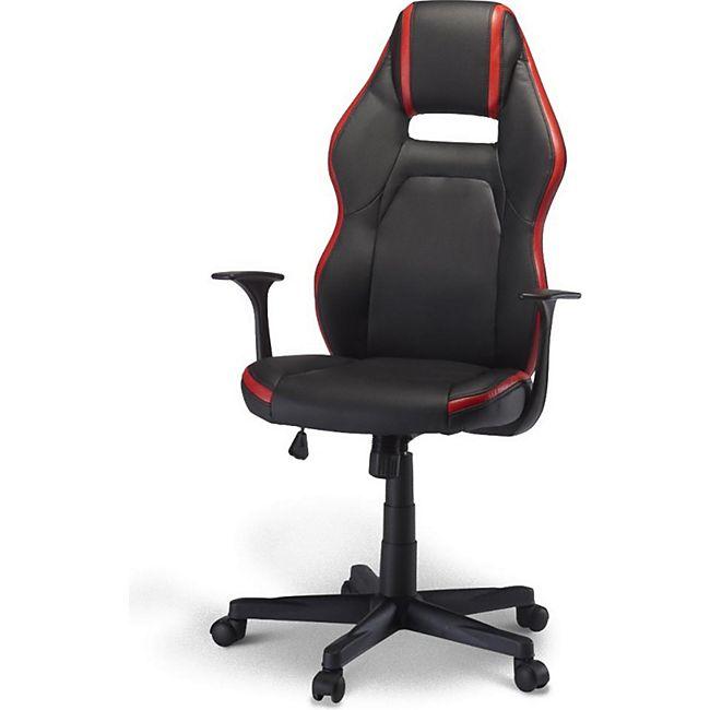 Bürostuhl Spike Gamer Stuhl schwarz + rot Schreibtisch Drehstuhl Chef Sessel - Bild 1
