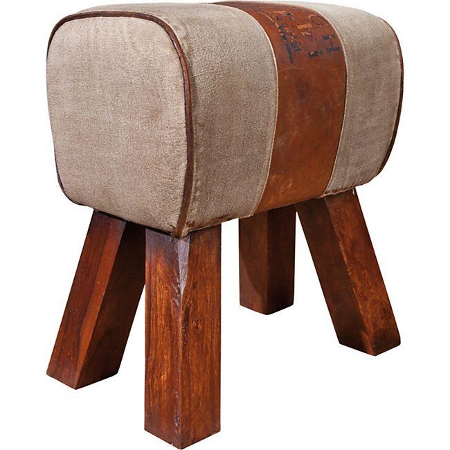 Esszimmerstuhl Strew Hocker braun beige Stuhlset Stühle Esszimmer Küchenstuhl - Bild 1