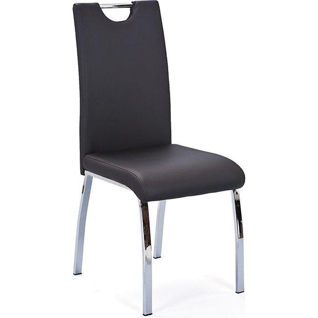 2x Esszimmerstuhl Texcam schwarz Stuhl Set Küchenstuhl Hochlehner Esszimmer Set - Bild 1