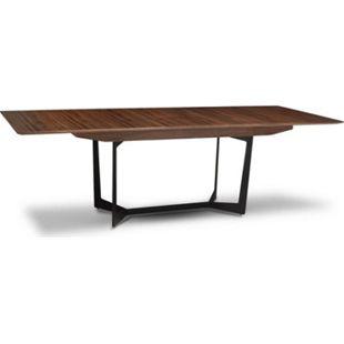 Esstisch Tove + Zusatzplatte Küchentisch Esszimmer Holz Tisch Walnuss Dekor - Bild 1