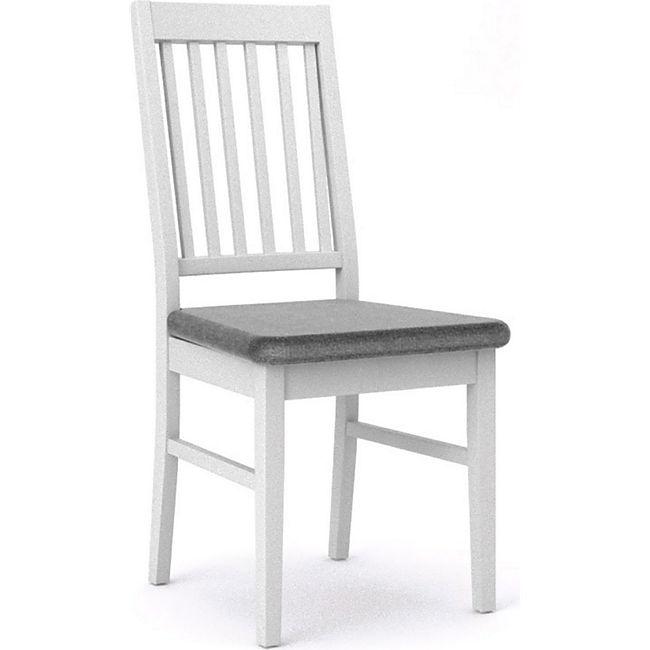 2x Landhaus Esszimmerstuhl Venedig weiß grau Stuhl Set Holzstuhl Küchenstuhl - Bild 1