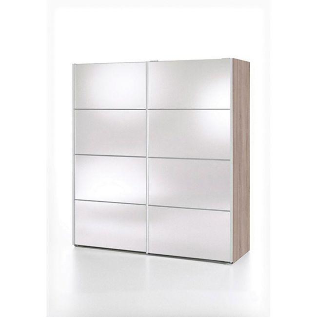 Kleiderschrank Veto 2 Türen Spiegelschrank Schrank Drehtürenschrank trüffel - Bild 1
