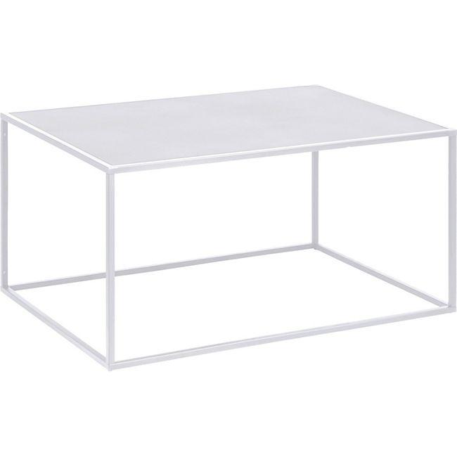 Couchtisch Vivi weiss Stahl Sofa Wohnzimmer Tisch Ablage Beistelltisch Metall - Bild 1