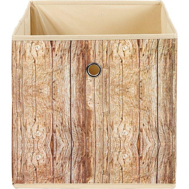 Aufbewahrungsbox Wucan braun Holzoptik Box Spielzeugkiste Kiste Fach Staubox - Bild 1