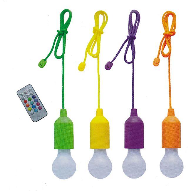 4er Set LED Bulbs Ziehlampe Farbwechsel Lampe Licht Seil Glühbirne Garten Deko - Bild 1