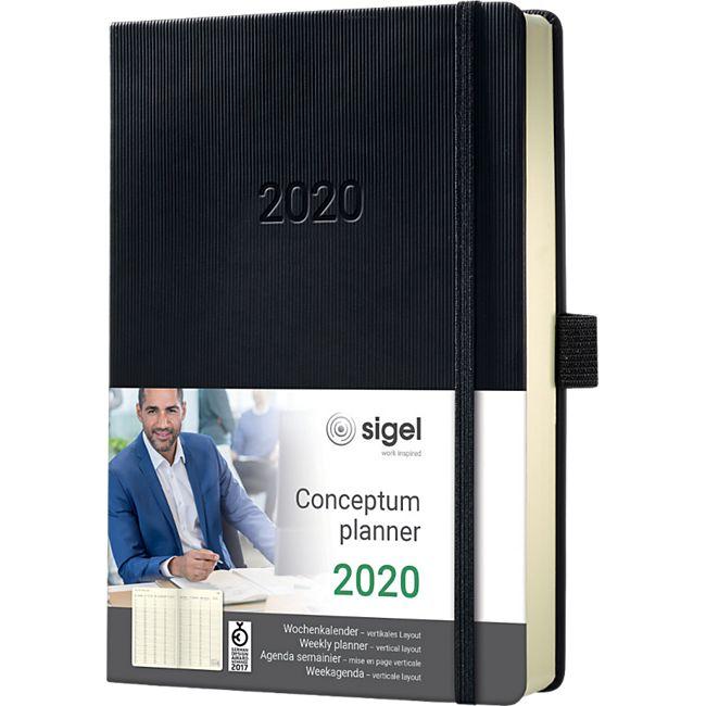 Sigel Wochenkalender 2020 Conceptum C2019 Hardcover A5 Kalender schwarz Buch - Bild 1