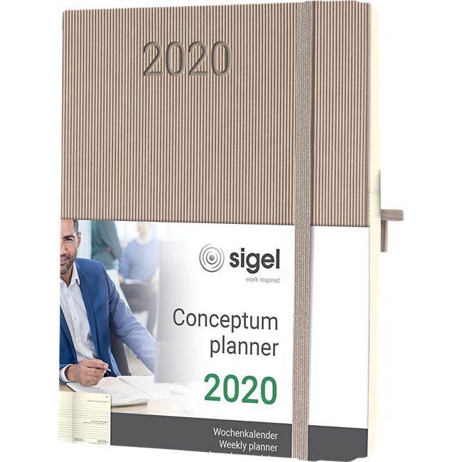 Sigel Wochenkalender 2020 Conceptum C2060 Hardcover A5 Taschen Kalender taupe - Bild 1