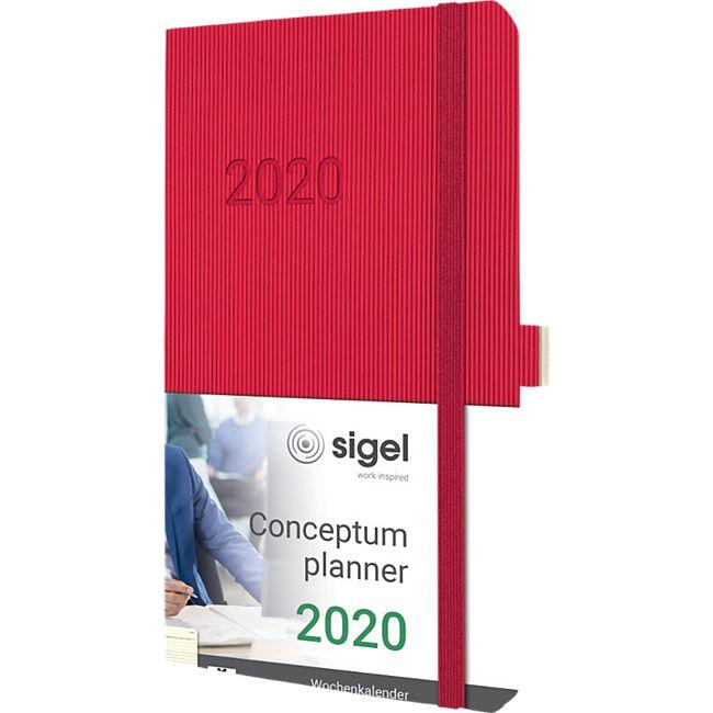 Sigel Wochenkalender 2020 Conceptum C2034 Softcover A5 Notiz Buch Kalender rot - Bild 1