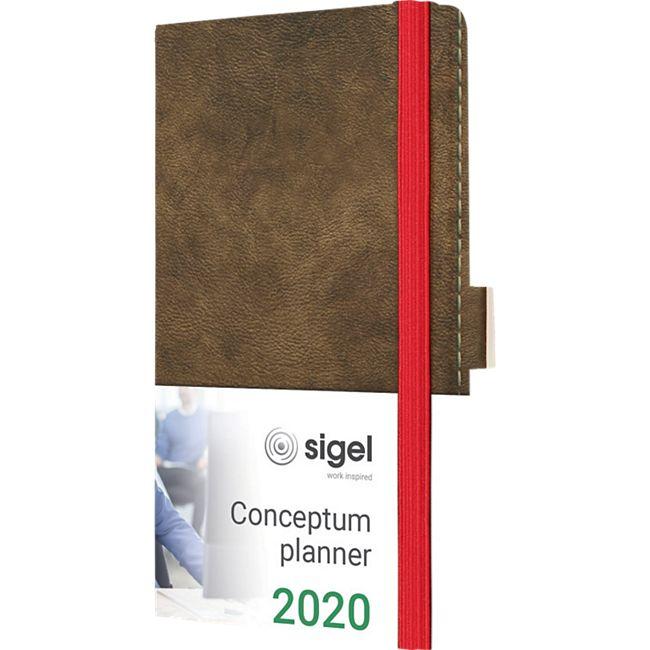 Sigel Wochenkalender 2020 Conceptum C2056 Hardcover A6 Kunstleder Kalender - Bild 1