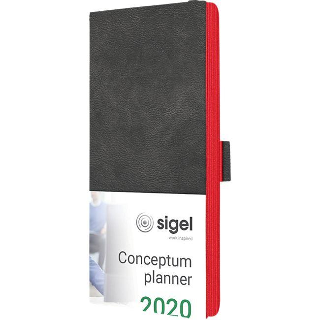 Sigel Wochenkalender 2020 Conceptum C2058 Hardcover A6 Kunstleder Kalender - Bild 1