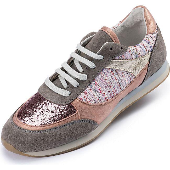 Damen Casual Sneaker Freizeitschuhe  - rosé/gold/grau - Bild 1