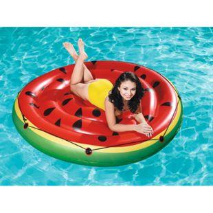 XL Bestway Schwimminsel Wassermelone Ø 188cm Badeinsel Wasserliege Luftmatratze - Bild 1