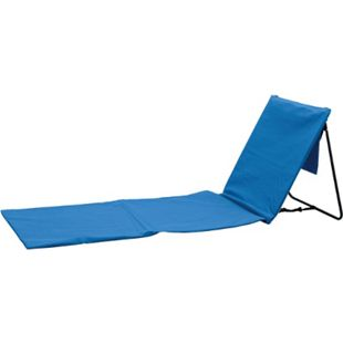 Strandstuhl,- matte mit Rückenlehne blau - Bild 1