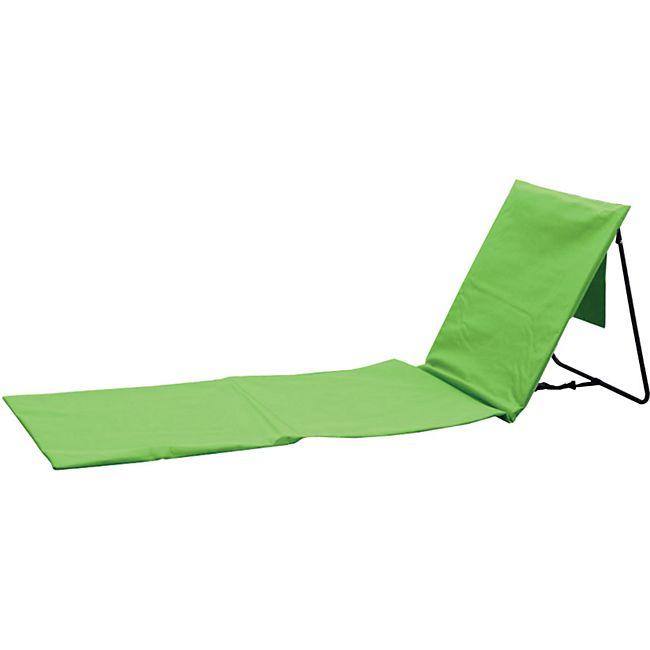 Strandstuhl,- matte mit Rückenlehne grün - Bild 1