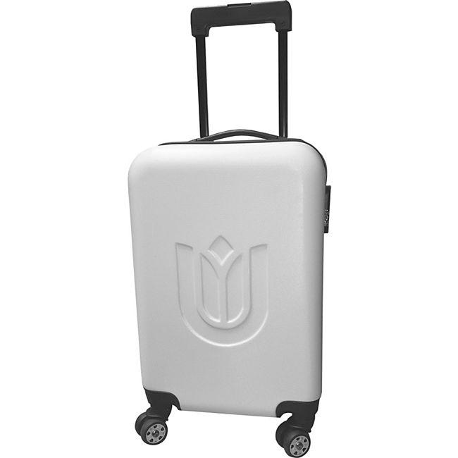 39L Trolley Koffer Reisekoffer Hartschale Boardcase Handgepäck Kurzreise weiss - Bild 1