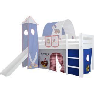 3tlg. Vorhang Set Höhle Pirat für Hochbett Spielbett Vorhänge Kinderbett - Bild 1