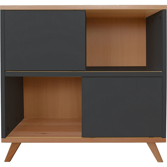 Kommode Sideboard Kinderzimmer Schrank Highboard Regal Standregal  anthrazit - Bild 1