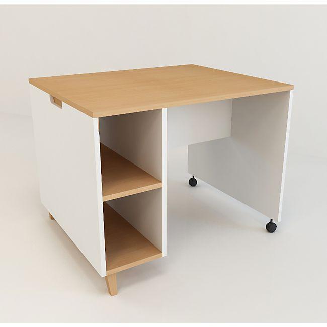 Kinderzimmer Schreibtisch Arbeitstisch Computer PC Tisch Regal Buche weiß - Bild 1