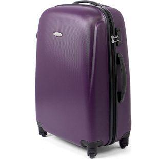 MasterGear ABS Reisekoffer TSA Schloss 68L Hartschale Koffer Trolley violett - Bild 1