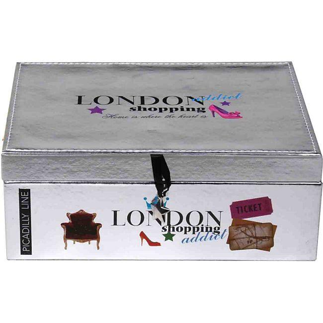 Schmuckkasten London silber - Bild 1