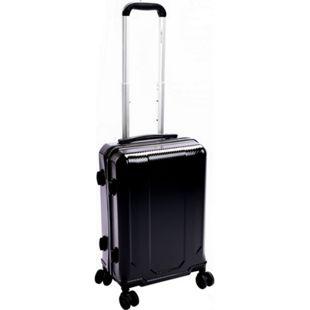 Leonardo Handgepäck Trolley 39L Carbon Optik TSA Reisekoffer Boardcase Koffer - Bild 1