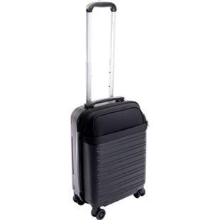 Leonardo Handgepäck Trolley 34L TSA Schloss Reisekoffer Boardcase Koffer schwarz - Bild 1