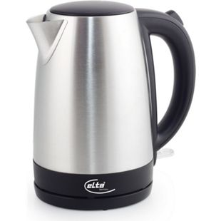 Elta Edelstahl Wasserkocher 1,7 L Teekocher Wasser Tee 2200 W weiss kabellos - Bild 1