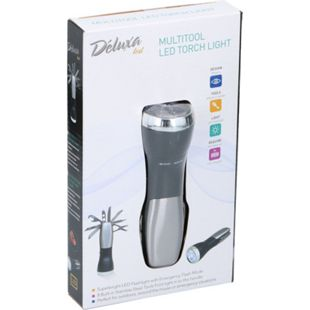 Multitool LED Taschenlampe Edelstahl Werkzeug Schraubendreher Lampe Schere Torch - Bild 1