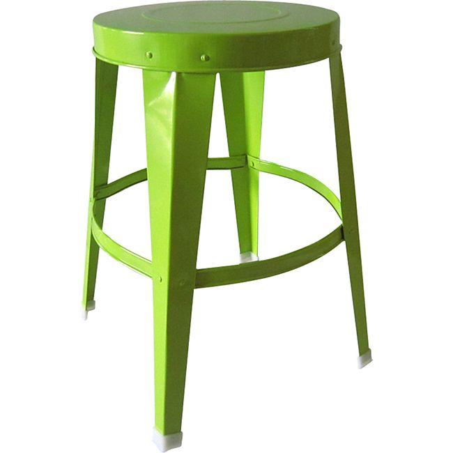 Metall Hocker 27cm grün - Bild 1