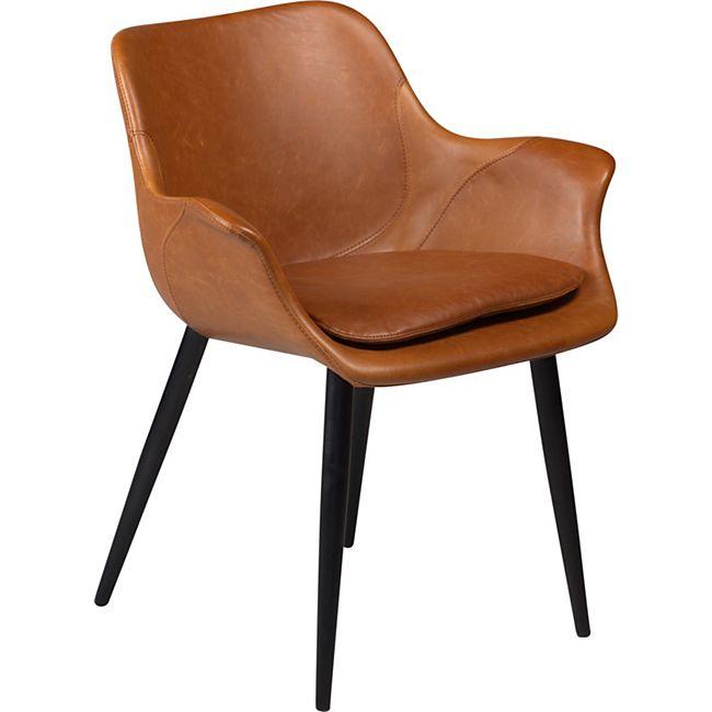 2x Design Esszimmerstuhl Kunstleder Küche Stuhl Stühle Set Esszimmer braun - Bild 1